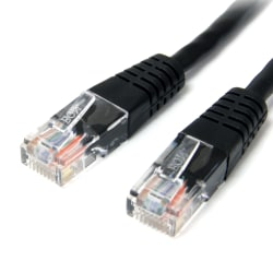 StarTech.com 50 ft Black Molded Cat5e UTP Patch Cable - Category 5e - 50 ft - 1 x RJ-45 Male - 1 x RJ-45 Male - Black