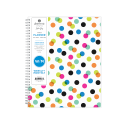 """Blue Sky™ Ampersand Dots Academic Weekly/Monthly Planner, 8-3/4"""" x 11"""", Multicolor, July 2020 to June 2021, 100759-A"""
