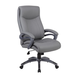 Boss Office Products High-Back Chair, Gray/Gun Metal