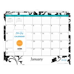 sky phone line wiring diagram blue sky monthly wall calendar 100026 21 office depot  blue sky monthly wall calendar 100026