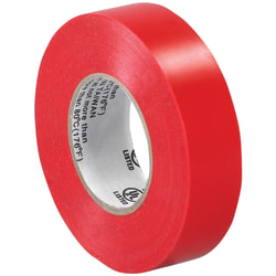 """Tape Logic® 6180 Electrical Tape, 1.25"""" Core, 0.75"""" x 60', Red, Case Of 10"""