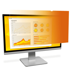 """3M™ Gold Privacy Filter Screen for Monitors, 24"""" Widescreen (16:9), Reduces Blue Light, GF240W1B"""