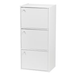 """IRIS 35""""H 3-Door Storage Shelf, White"""