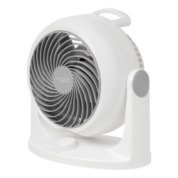IRIS Woozoo Whole Room Circulator Desk Fan, White