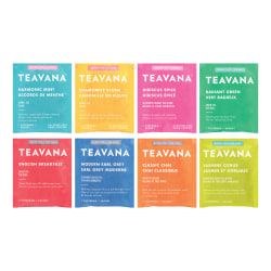 Teavana Assorted Tea Collection, 24 Tea Bags Per Box, Carton Of 16 Boxes