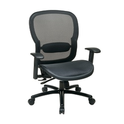 Office Star™ Breathable Mesh High-Back Big And Tall Executive Chair, Black