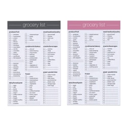 """Office Depot® Brand Junior Legal Grocery List Pad, 5"""" x 8"""", Specialty Ruled, 100 Pages (50 Sheets), Assorted Colors"""