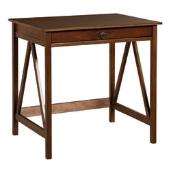 Linon Home Decor Products Rockport Home Office Laptop Desk, Antique Tobacco