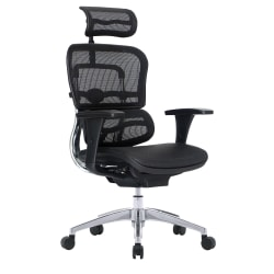 WorkPro® 12000 Mesh High-Back Executive Chair, Black/Chrome