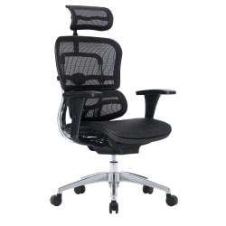 WorkPro® 12000 Series Ergonomic Mesh High-Back Executive Chair, Black/Chrome