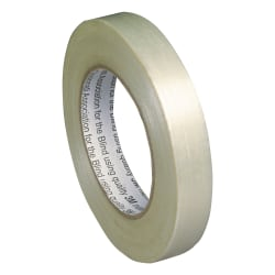 """SKILCRAFT® Filament/Strapping Tape, 0.75"""" x 60 Yd., White (AbilityOne 7510-00-802-8311)"""