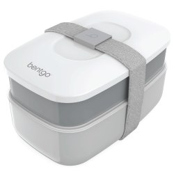 """Bentgo Classic All-In-One Lunch Box Container, 3-13/16""""H x 4-3/4""""W x 7-1/8""""D, Gray"""
