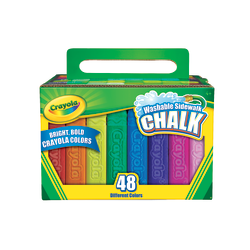 Crayola® Washable Sidewalk Chalk, Assorted Colors, Pack Of 48