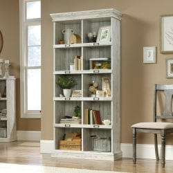 Sauder® Barrister Lane Tall 10-Cube Bookcase, White Plank