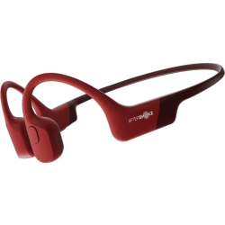 AfterShokz Aeropex - Headphones with mic - open ear - behind-the-neck mount - Bluetooth - wireless - solar red