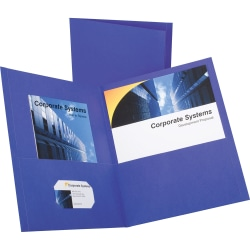 """Oxford Twin Pocket Letter-size Folders - Letter - 8 1/2"""" x 11"""" Sheet Size - 100 Sheet Capacity - 2 Inside Front & Back Pocket(s) - Leatherette Paper - Purple - Recycled - 25 / Box"""