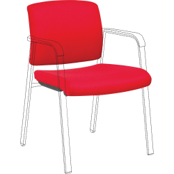 Lorell Stackable Chair Upholstered Back/Seat Kit - Red - 1 Each