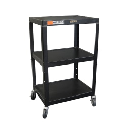H. Wilson Metal Utility Cart, Black