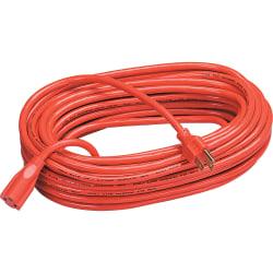 Fellowes Heavy-Duty Indoor/Outdoor Extension Cord, 100', Orange
