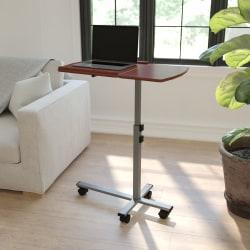 "Flash Furniture 30""W Mobile Laptop Desk, Cherry"