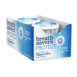 Breath Savers Protect Mints, Peppermint, 0.88 Oz, Pack Of 6