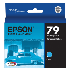 Epson® 79, (T079220) Claria® Hi-Definition High-Capacity Cyan Ink Cartridge