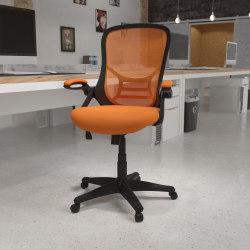 Flash Furniture Ergonomic Mesh High-Back Office Chair, Orange