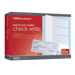 Office Depot® Brand Personal Check Refill Pack, 3-Part, Pack Of 300