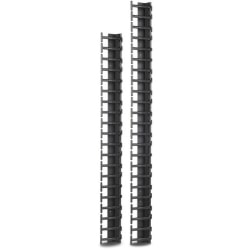 APC by Schneider Electric Vertical Cable Manager for NetShelter SX 600mm Wide 45U (Qty 2) - Black - 2 Pack - 45U Rack Height