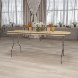 "Flash Furniture Rectangular Heavy-Duty Folding Banquet Table, 30""H x 30""W x 72""D, Natural"