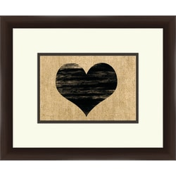 """PTM Images Expressions Framed Wall Art, 10""""H x 12""""W, Espresso"""