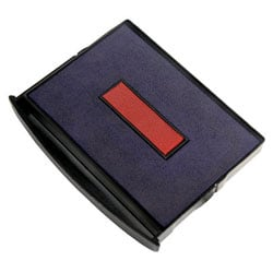 """2000 PLUS® 2-Color Self-inking Dater Replacement Pad, Red/Blue, 1 1/2"""" x 2 5/16"""" Impression"""