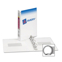 """Avery® Durable View 3-Ring Binder, 1"""" Round Rings, White"""
