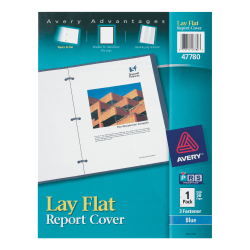 Avery® Lay Flat Report Cover, Blue