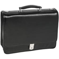 McKlein River North Leather Briefcase, Black