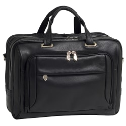 McKlein West Loop Leather Briefcase, Black