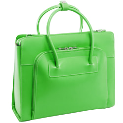 McKlein Lake Forest Italian Leather Briefcase, Green