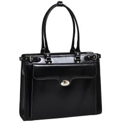 McKlein Winnetka Italian Leather Briefcase, Black