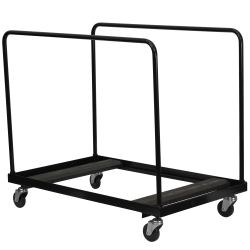"""Flash Furniture Folding-Table Dolly For Round Folding Tables, 47""""H x 29""""W x 48""""D, Black"""