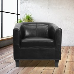 Flash Furniture Guest/Reception Chair, Black