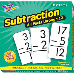 Trend All Facts Skill Drill Flash Cards, Subtraction, Pack Of 169 Cards