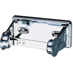 "San Jamar Single-roll Toilet Tissue Dispenser - Roll Dispenser - 1 x Roll - 2.8"" Height x 6"" Width x 4.5"" Depth - Chrome - Lockable, Anti-theft"
