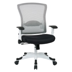 Office Star™ Space Seating Mesh Mid-Back Chair, Black/White