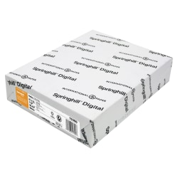 """Springhill® Digital Index Card Stock, Letter Size (8 1/2"""" x 11""""), 92 (U.S.) Brightness, 110 Lb, Ream Of 250 Sheets"""