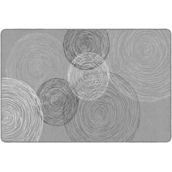 "Flagship Carpets Kaleidoscope Rectangular Rug, 72"" x 108"", Gray"