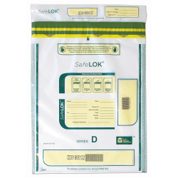 """Control Group Tamper-Evident Deposit Bags, 12"""" x 16"""", Clear, Pack Of 100"""
