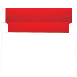 """Great Papers!® Holiday Envelopes, Red Foil-Lined White, A9 (8 3/4"""" x 5 3/4""""), Pack Of 25"""