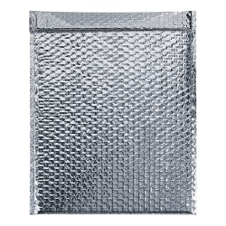 "Office Depot® Brand Cool Shield Bubble Mailers, 20""H x 24""W x 3/16""D, Silver, Pack Of 50 Mailers"