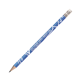 Musgrave Pencil Co. Motivational Pencils, 2.11 mm, #2 Lead, Sharpen Your Testing Skills, Blue/White, Pack Of 144