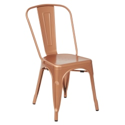 Office Star™ Bristow Armless Chair, Copper, Set Of 2 Chairs